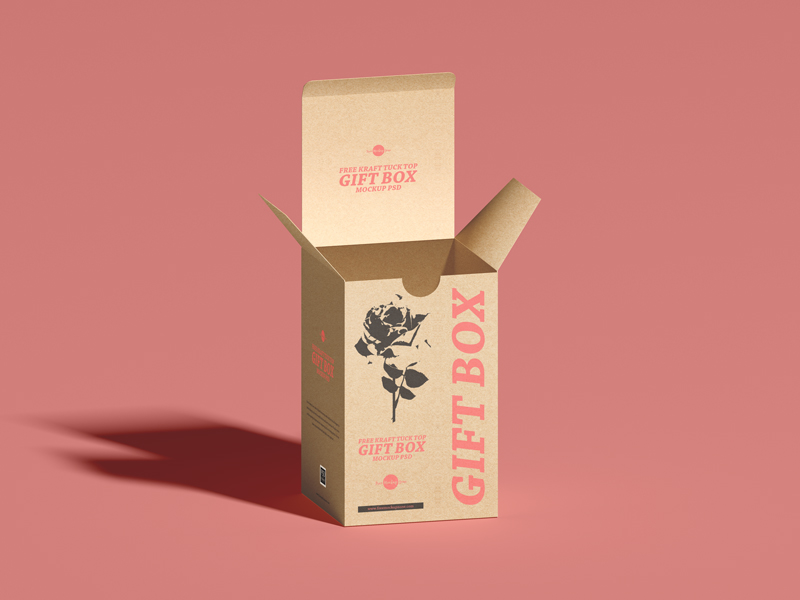 Free-Kraft-Tuck-Top-Gift-Box-Mockup-PSD