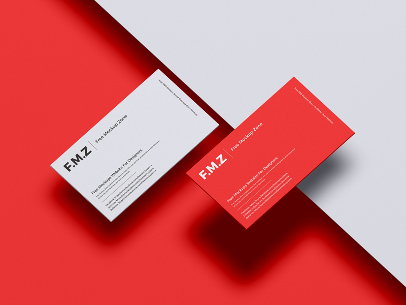 Free-PSD-Modern-Brand-Business-Card-Mockup