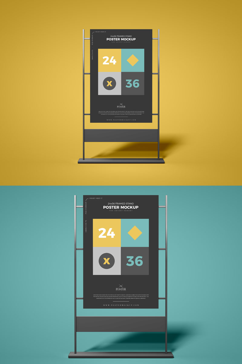 Free-Front-View-Advertising-Stand-24x36-Poster-Mockup