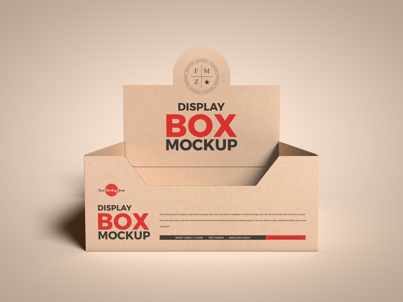 Free-Kraft-Empty-Display-Box-Mockup