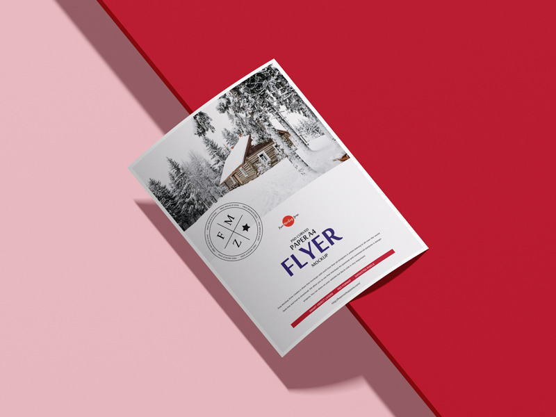 Free-PSD-Curved-Paper-A4-Flyer-Mockup-600