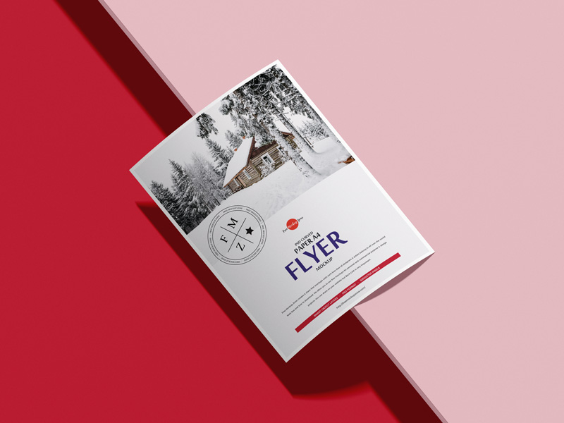 Free-PSD-Curved-Paper-A4-Flyer-Mockup