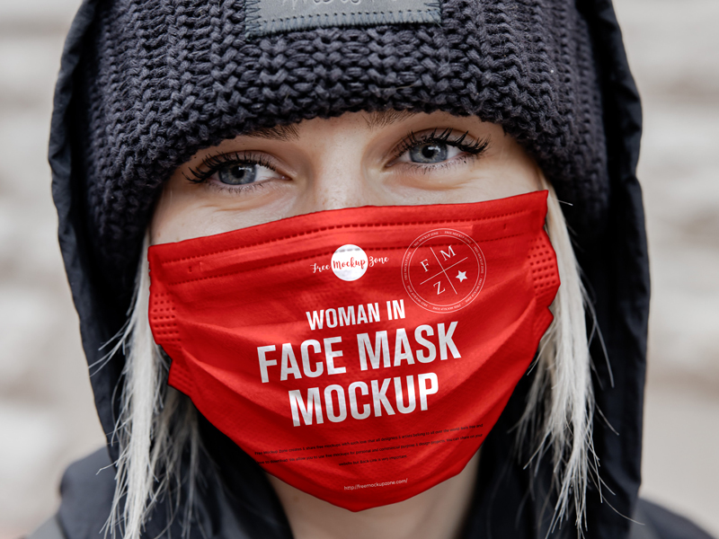 Free-Woman-in-Face-Mask-Mockup