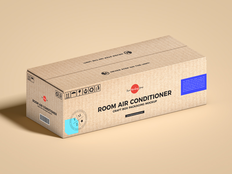 Free-Room-Air-Conditioner-Craft-Box-Packaging-Mockup-600