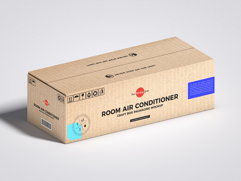 Free-Room-Air-Conditioner-Craft-Box-Packaging-Mockup