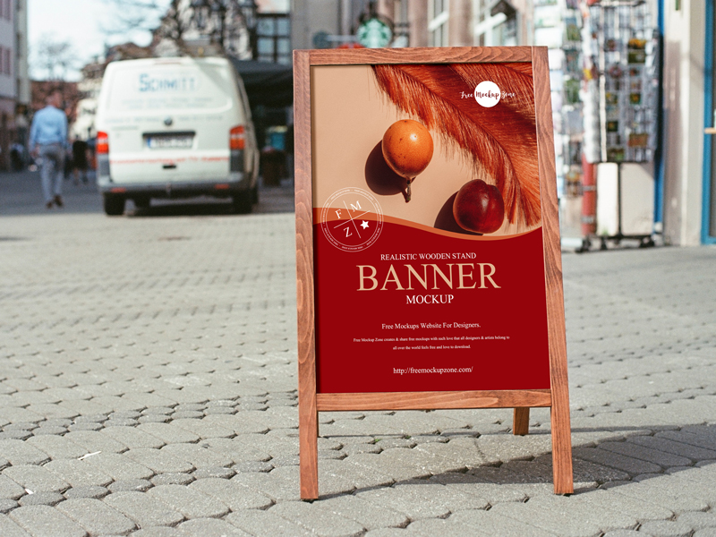 Free-Realistic-Wooden-Stand-Banner-Mockup