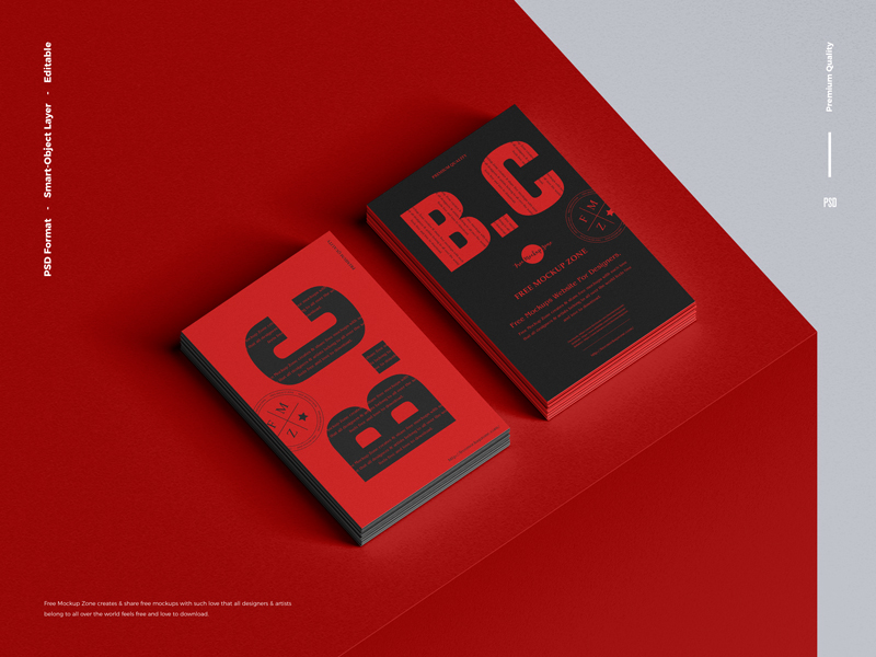 Free-Branding-Stack-of-Business-Card-Mockup-600