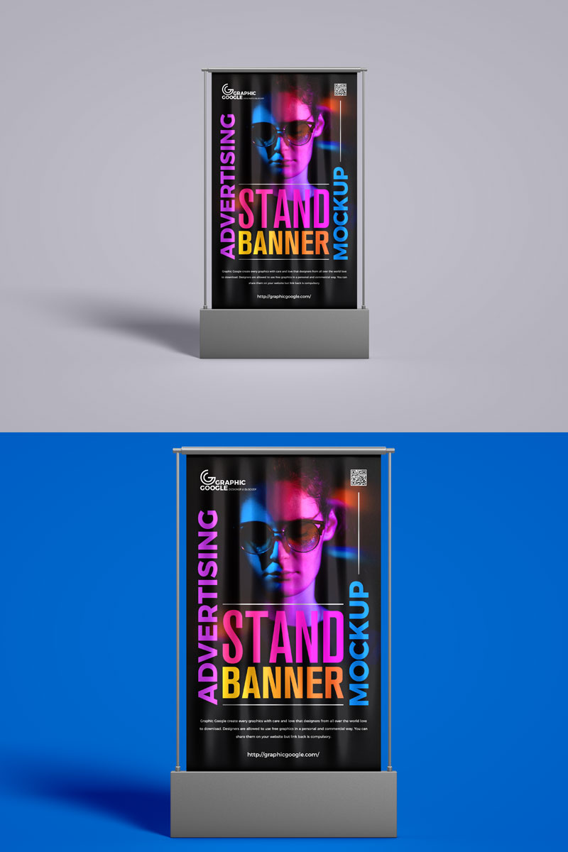 Free-Front-View-Banner-Mockup
