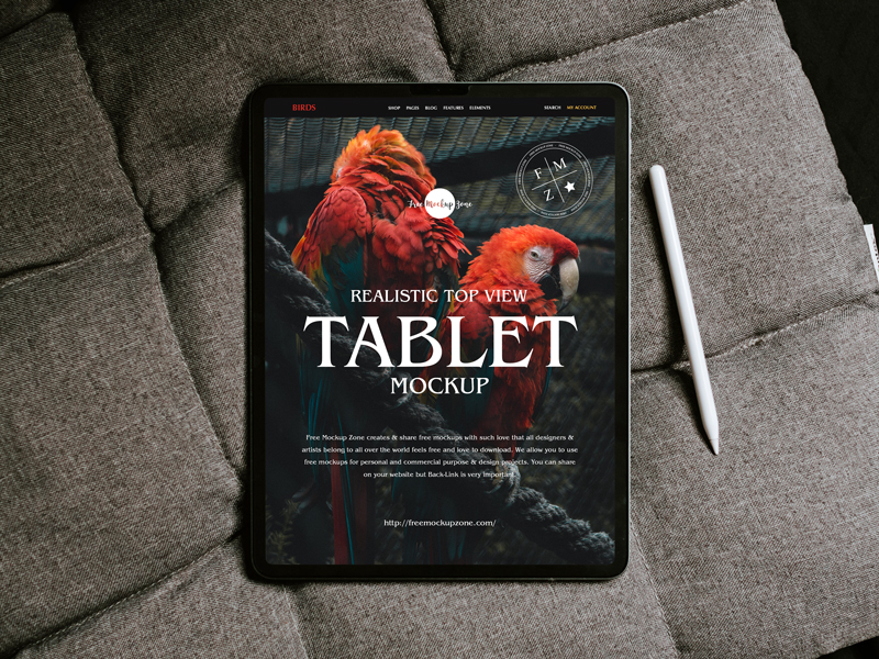 Free-Realistic-Top-View-Tablet-Mockup