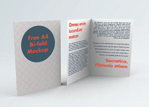 Free A4 Bi-Fold Brochure Mockup With 14 Styles