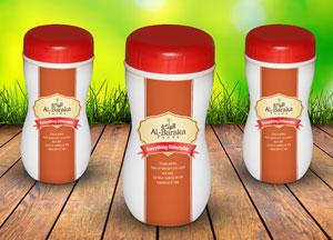 Free Plastic Bottle Jar Mock-up Psd