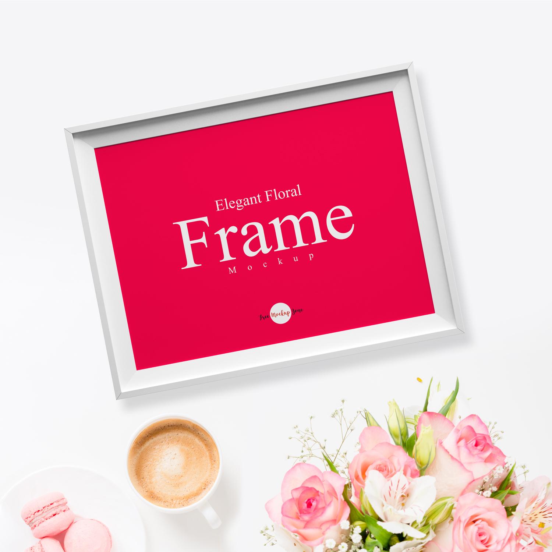 3d Logo Mockupfree Psd: Coffee Mockupfree : Free Elegant Floral Frame MockupFree