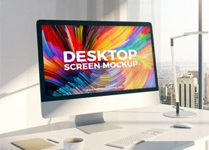 Free Designer Desktop Screen Mockup