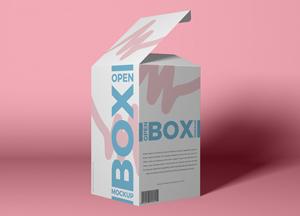 Free Packaging Open Box Mockup PSD