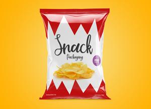 Free Snack Packaging Mockup PSD 2018