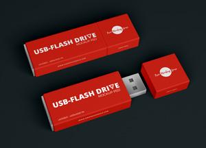 Free Flash Drive-USB Mockup PSD 2018